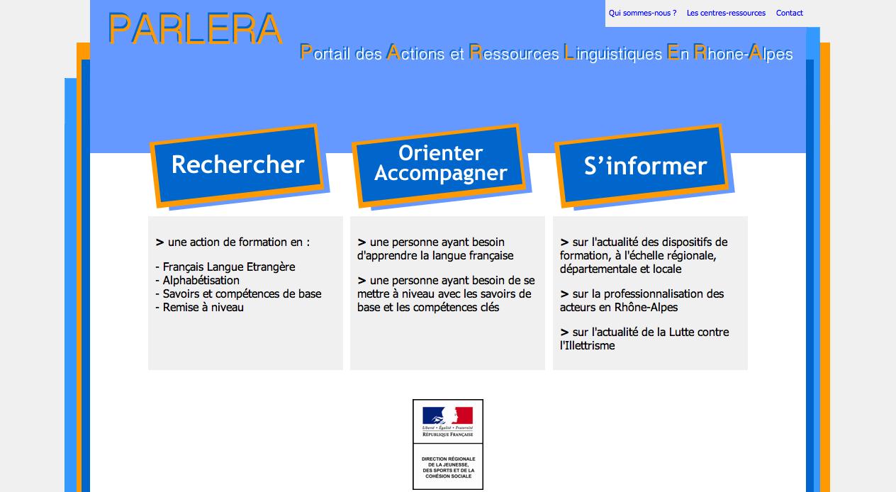 Site Parlera.fr 1.0